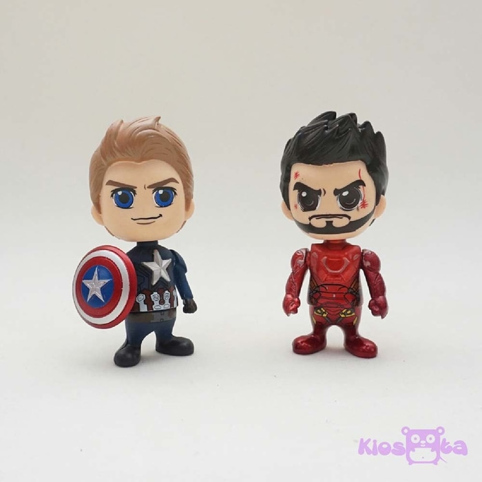 figure iron man tony stark dan captain america steve rogers civil war