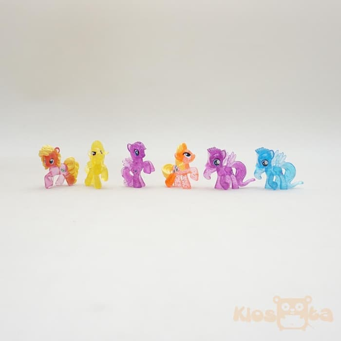 styling figure my little pony set hiasan kue ulang tahun A