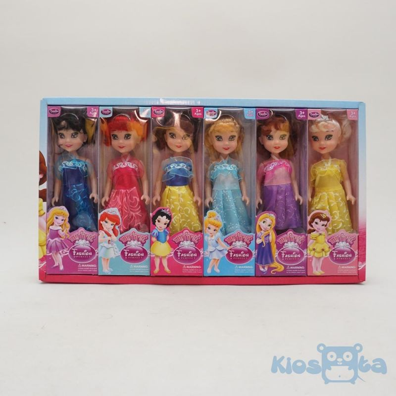 Boneka barbie set disney princess isi 6