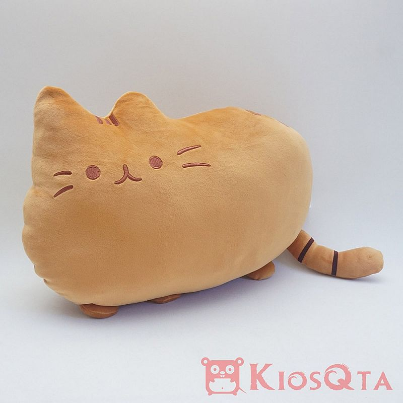 Bantal boneka kucing pusheen lucu cute cat coklat