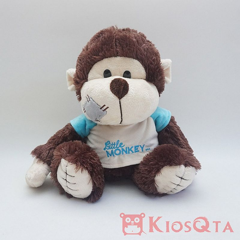 boneka monyet coklat duduk sitting monkey medium MAY