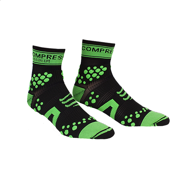 kaos kaki compressport trail pro racing socks anti blister green T2