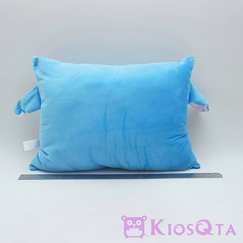 bantal stitch persegi bordir biru new AUG