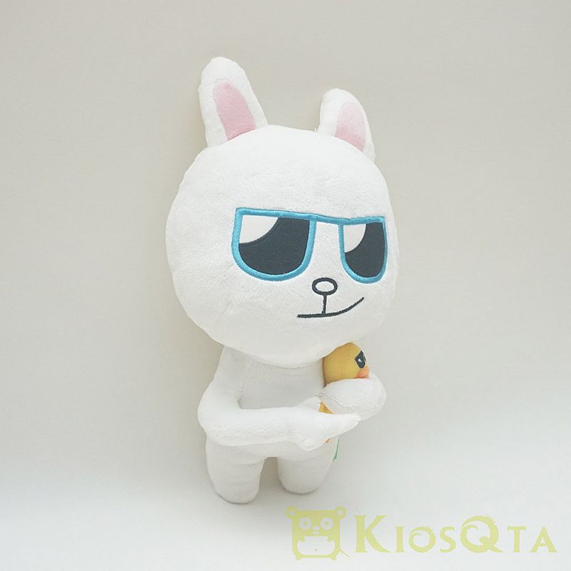 Boneka cony kelinci line kacamata hitam with little sally JAN