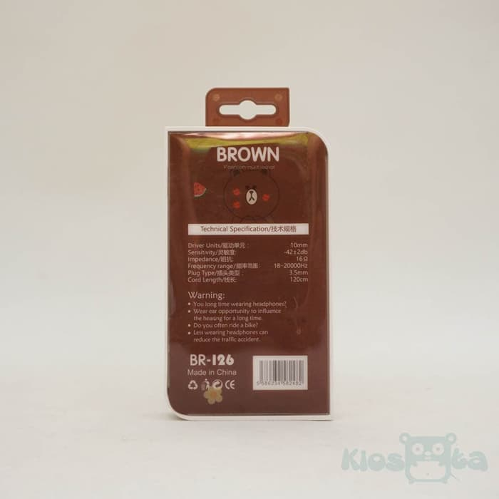 earphone line brown new edition