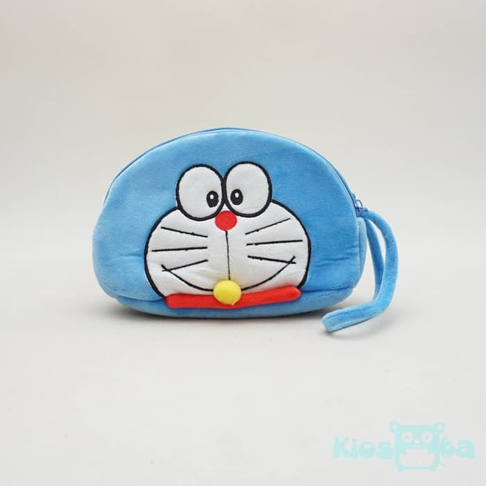 dompet hp oval doraemon 2 resleting