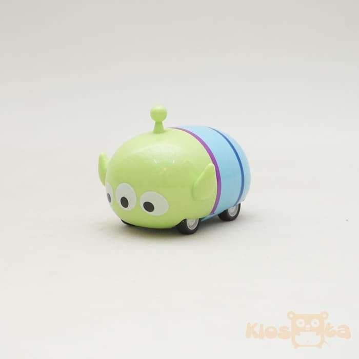 diecast mobil tsum tsum little green man alien tiga mata pull and go