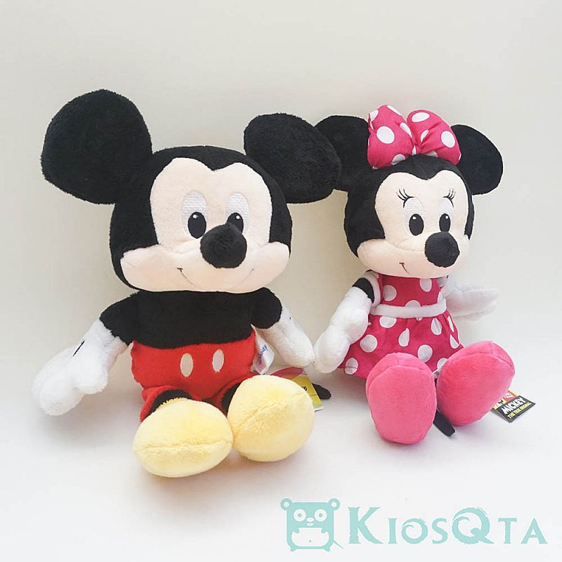 boneka couple mickey minnie mouse sitting original disney MARCH